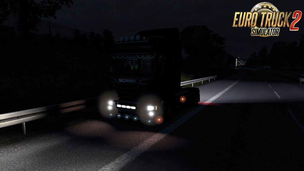 Bright reverse light for Ets2