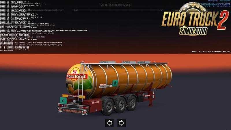 Full Paint Cistern DLC Schwarzmuller v1.0 for Ets2