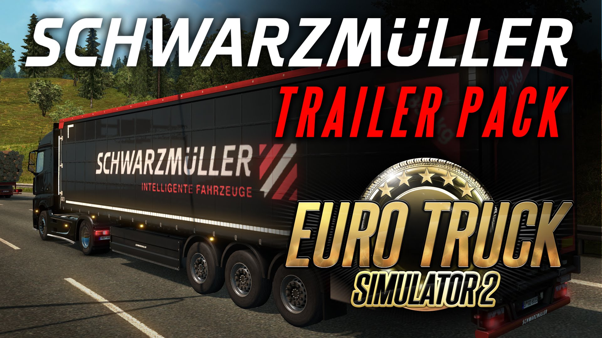 Euro Truck Simulator 2 - Schwarzmüller Trailer Pack DLC (Video)