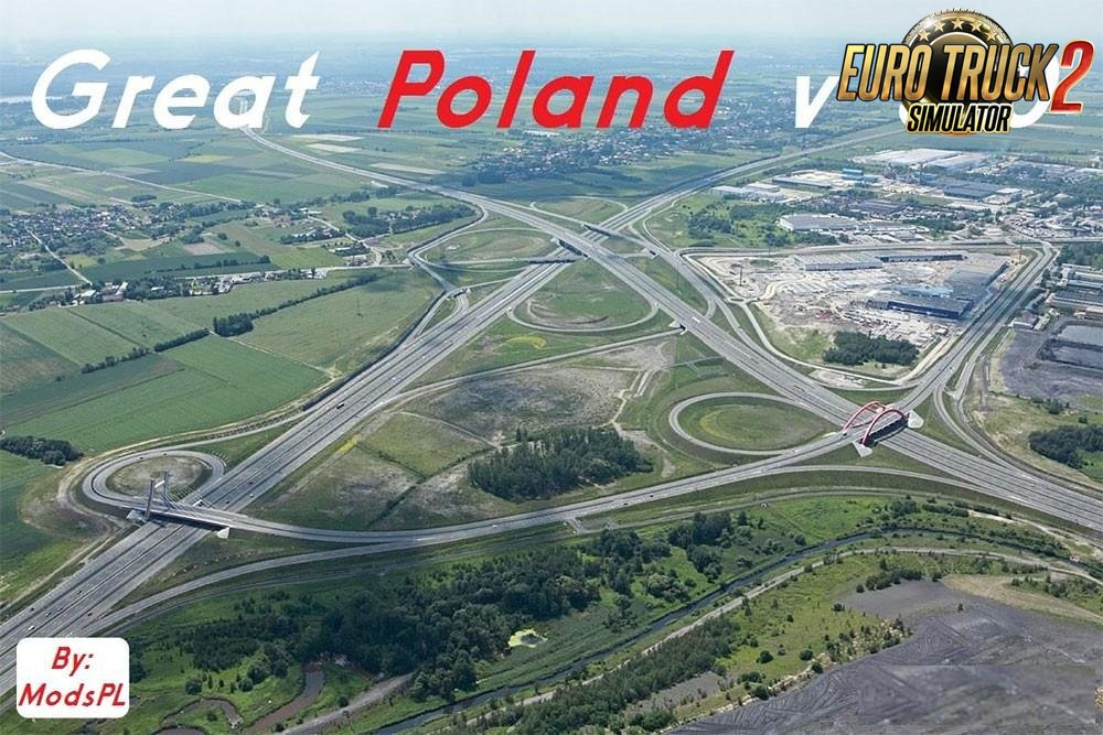 Great Poland Map v3.0 by ModsPL (1.25.x)