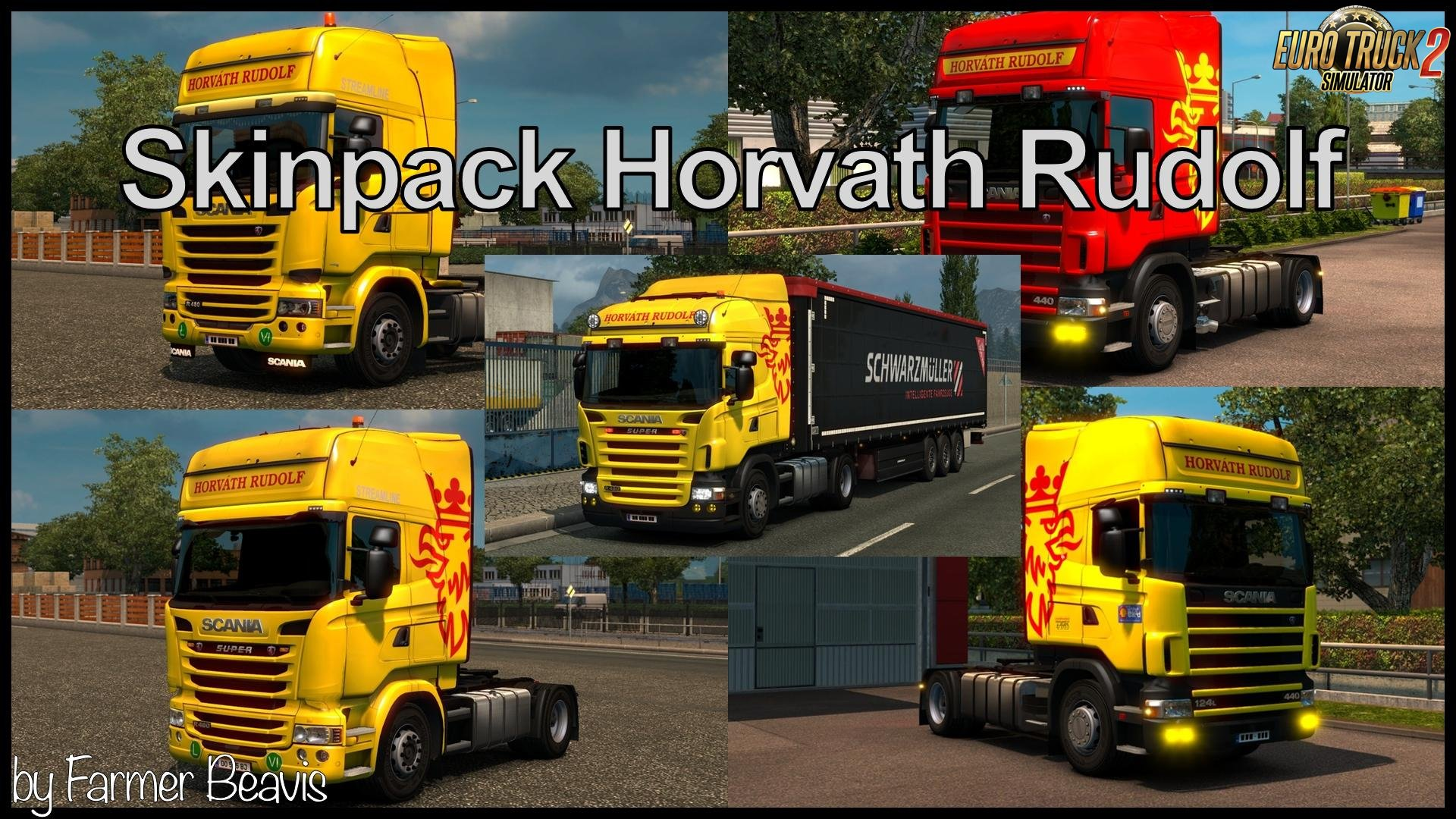 Horváth Rudolf Skinpack for Scania v2 in Ets2