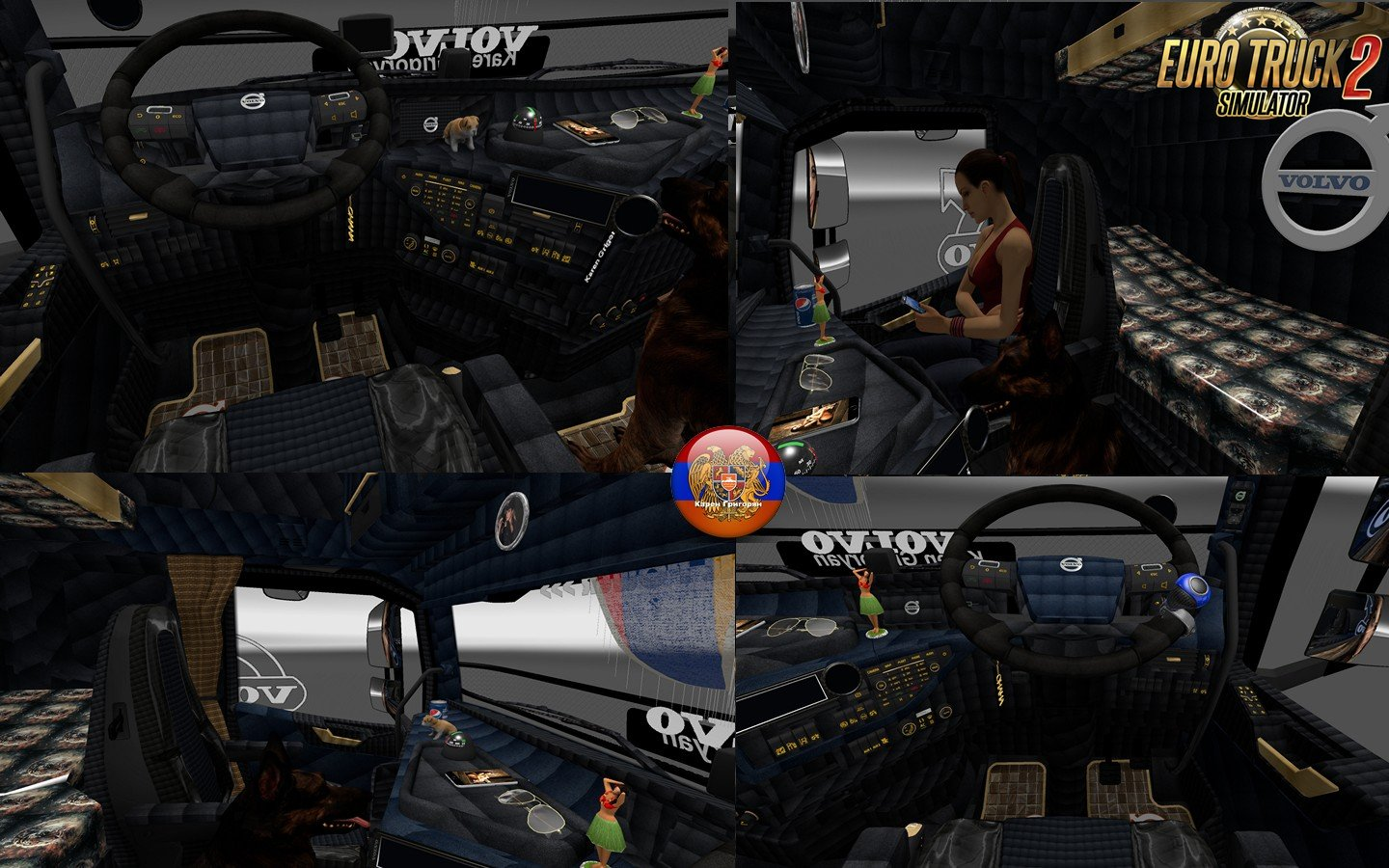 Interior Updated for Volvo FH 2013 v20.xx by Ohaha (1.25.x)