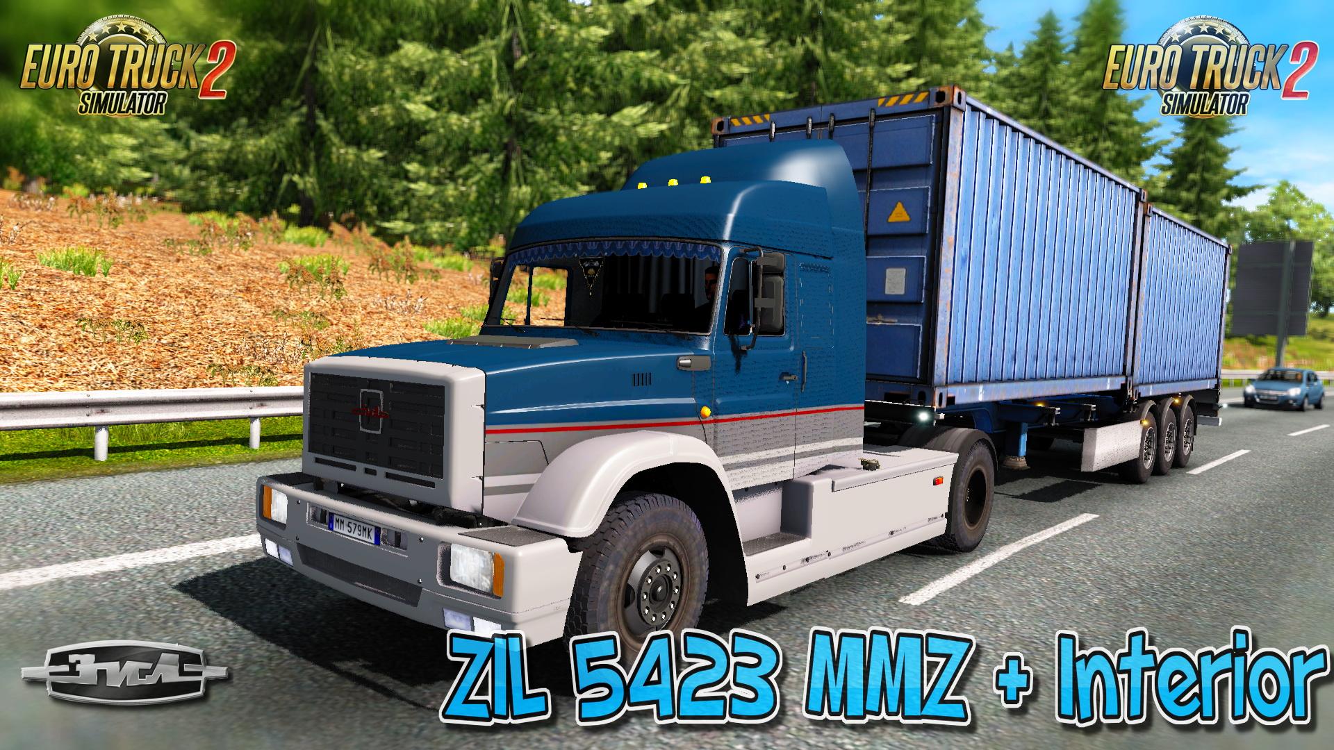 zil 5423 mmz interior v2 5 download ets 2 mods truck mods euro truck simulator 2. Black Bedroom Furniture Sets. Home Design Ideas