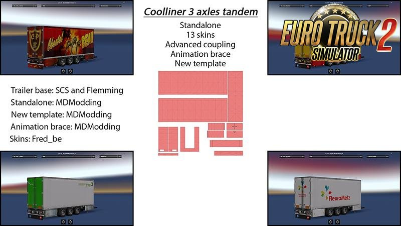 Trailer Tandem Coolliner 3 Axles v1 for Ets2