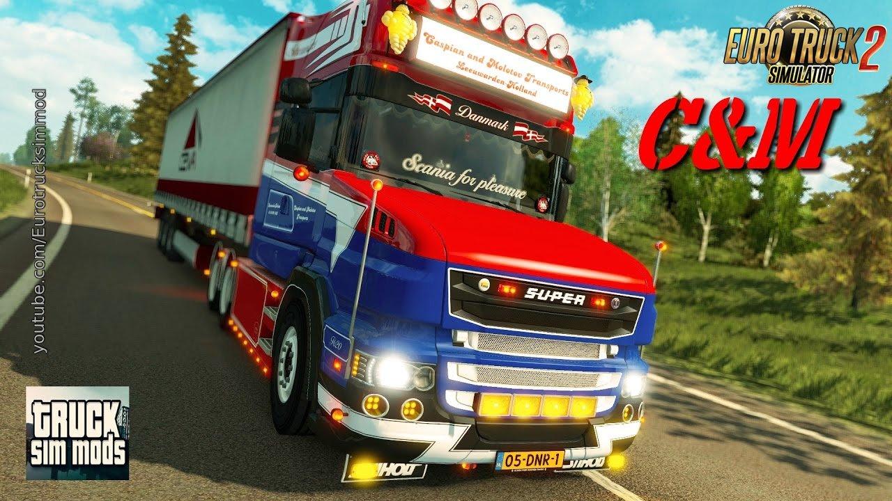 Scania C&M Transports V8 for ETS2