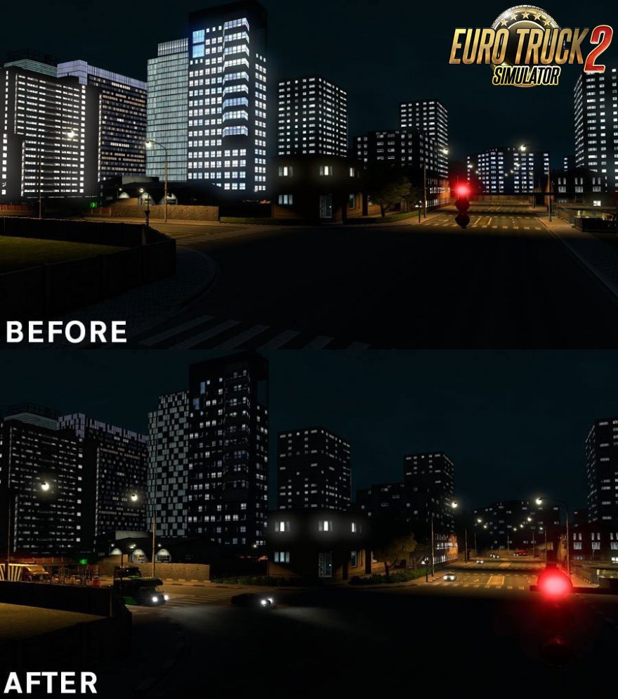 Realistic Building Lights v1.0 for Ets2