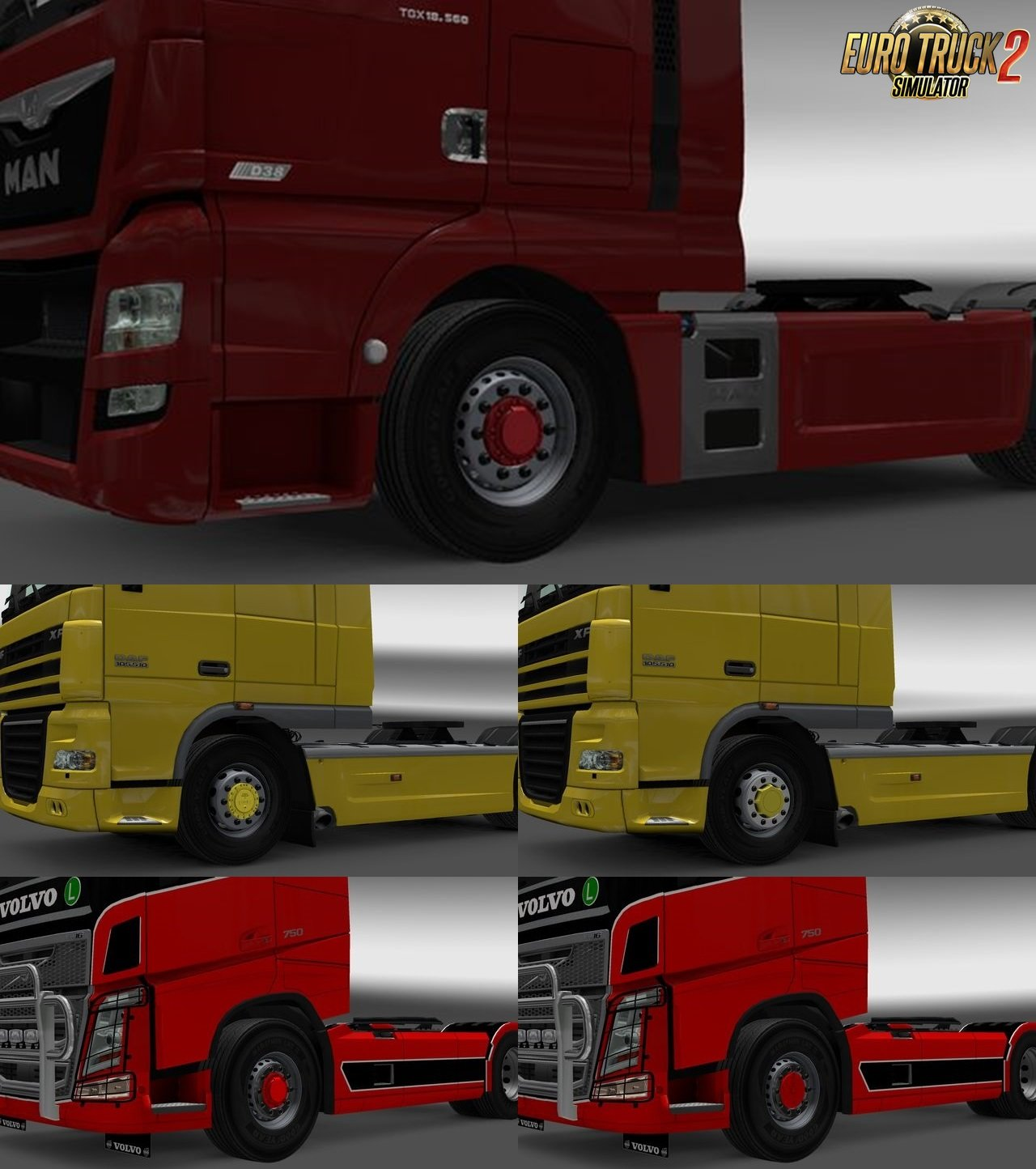 Hub reduction axle cap by KCl v2.5 for Ets2