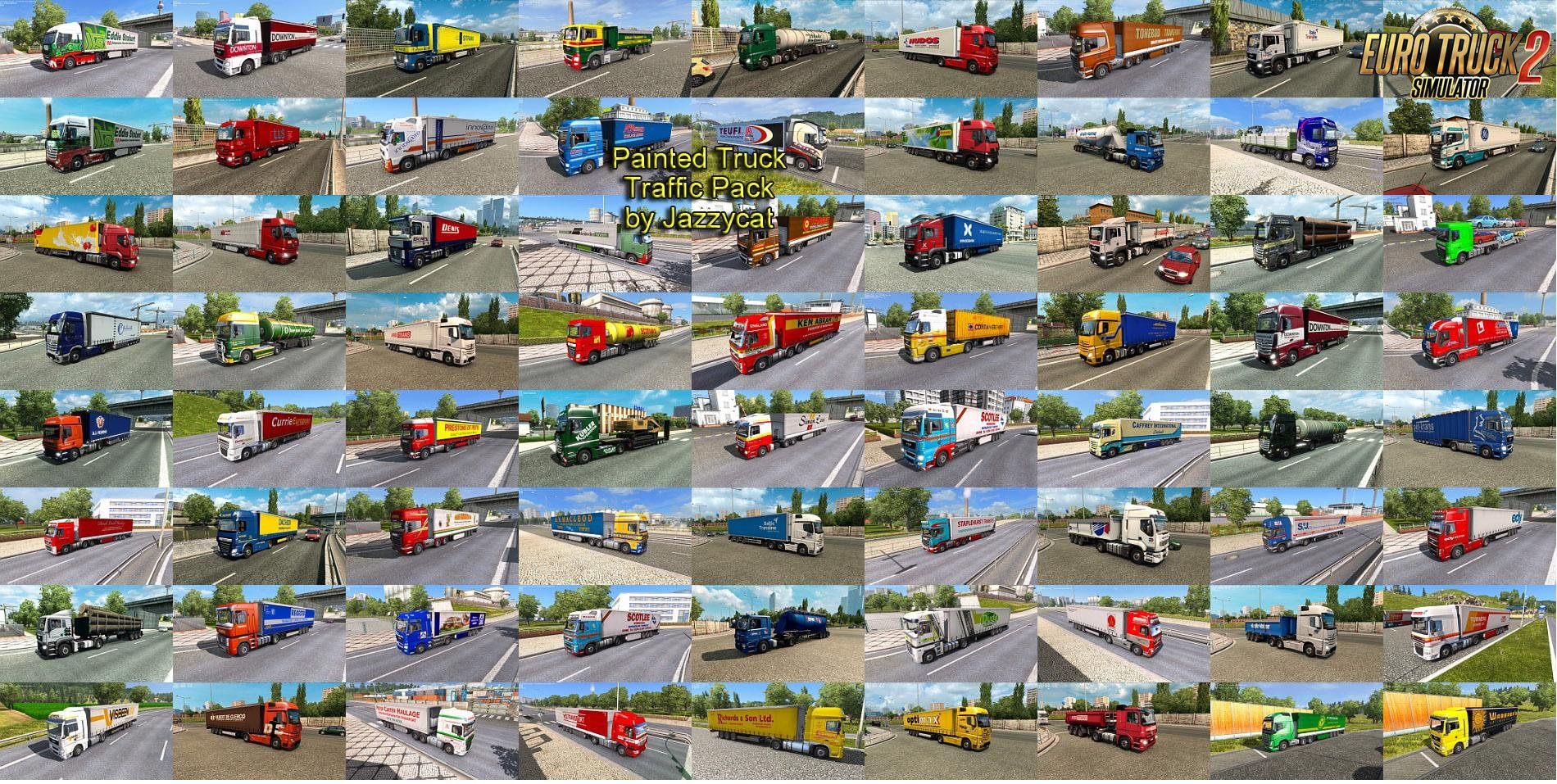 Painted Truck Traffic Pack v 2.6 by Jazzycat