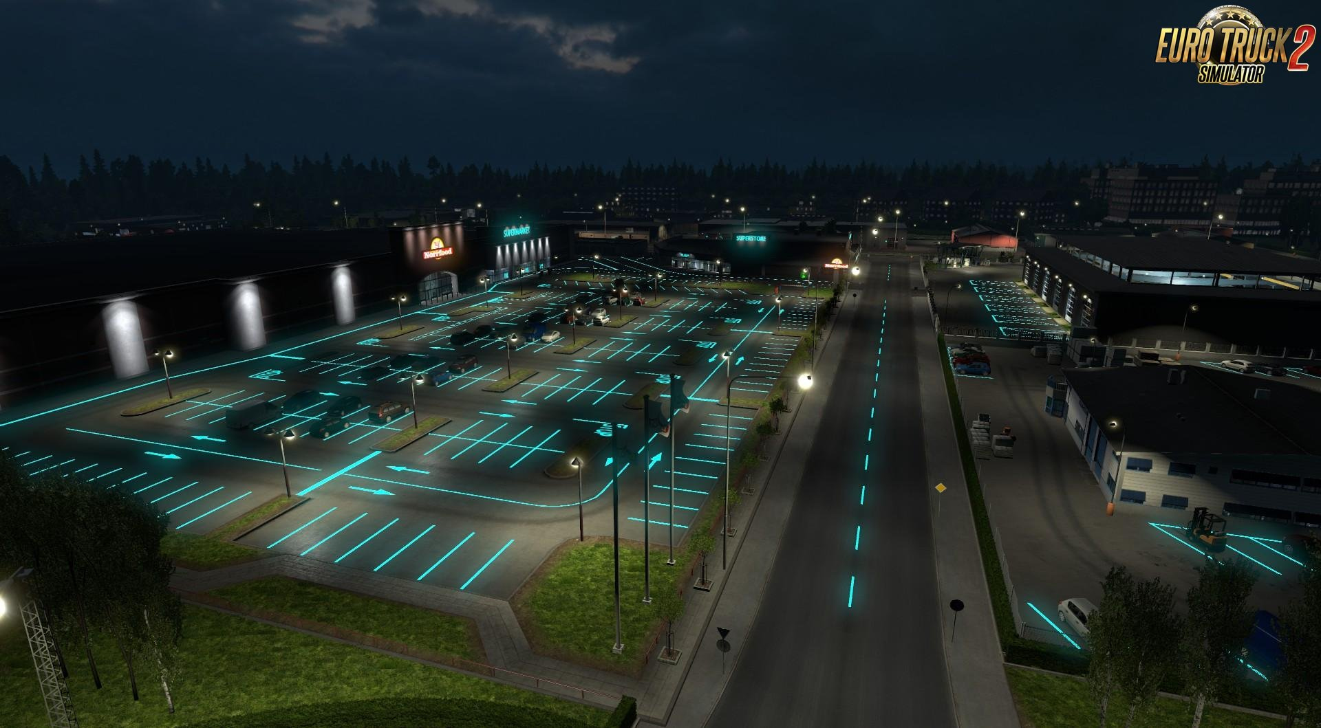 Roadways Luminous v1.0 for Ets2