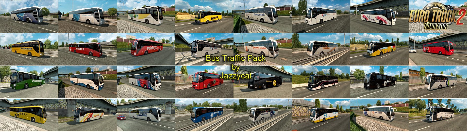 Bus Traffic Pack v1.5 by Jazzycat [1.26.x]