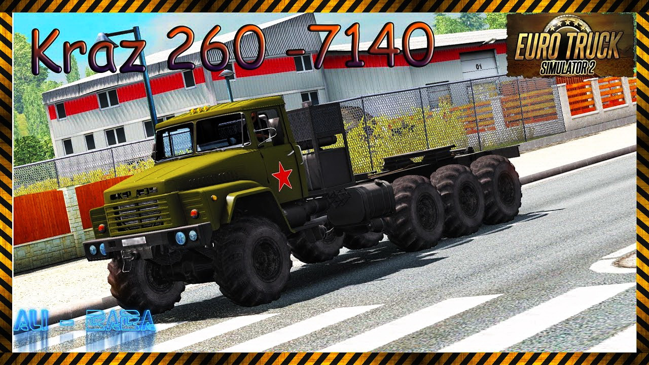 Kraz 260-7140 + Interior + Trailer v1.0 (1.26.x)
