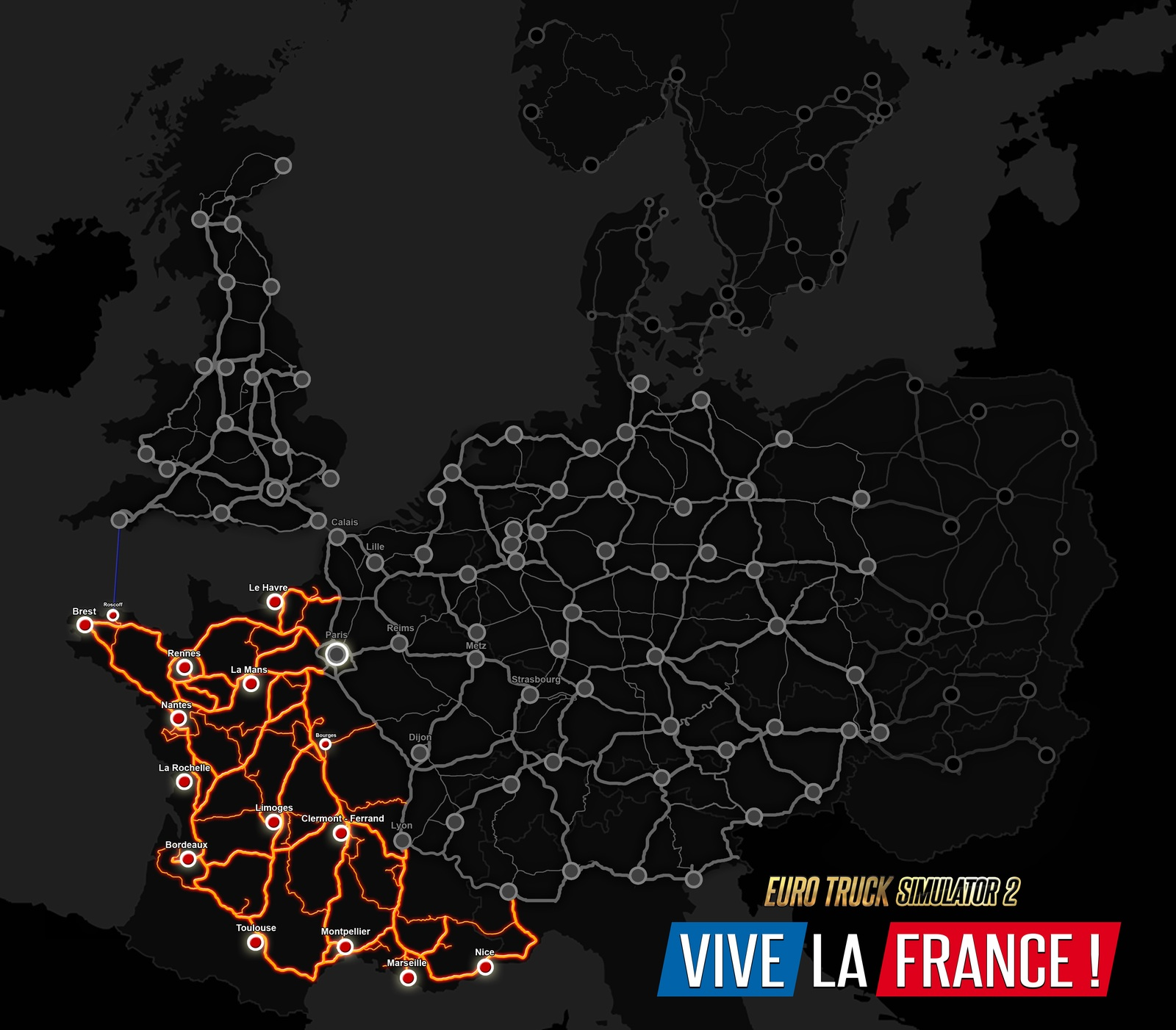 The Roads of Vive La France !