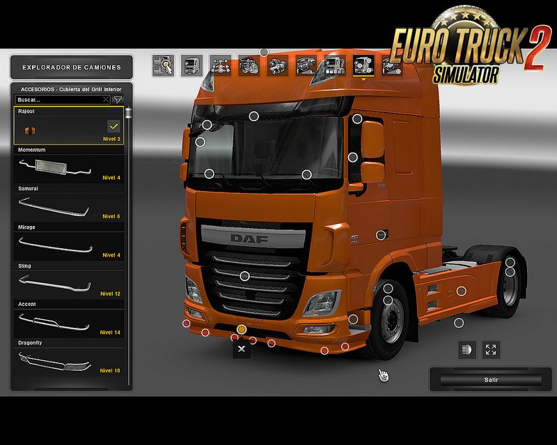 Daf Low Spoiler for Ets2