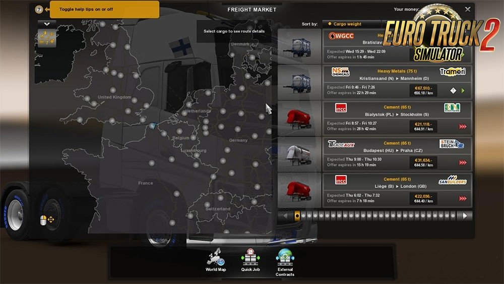 Realistic cargo weights v1.0 by Maximate98