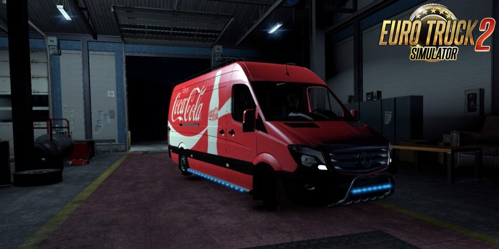 Mercedes Sprinter Long 2014 Coca Cola Skin for Ets2