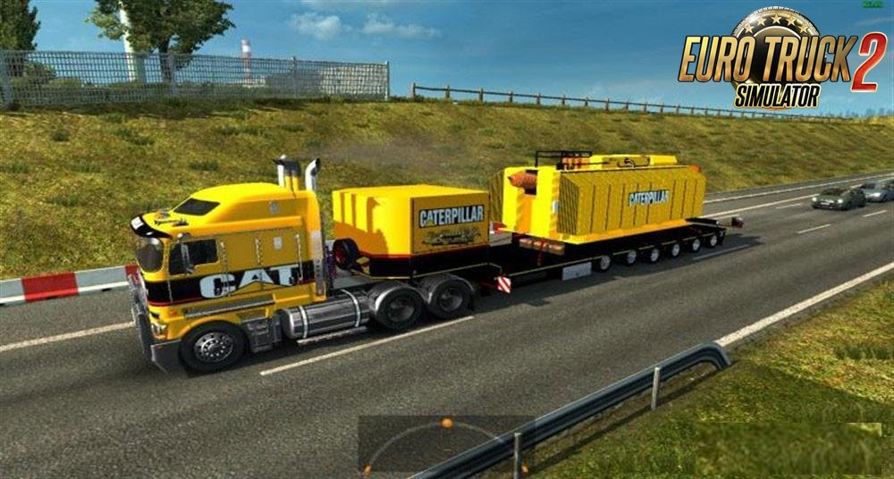 Trailer With Caterpillar Heavy Transformer for Ets2