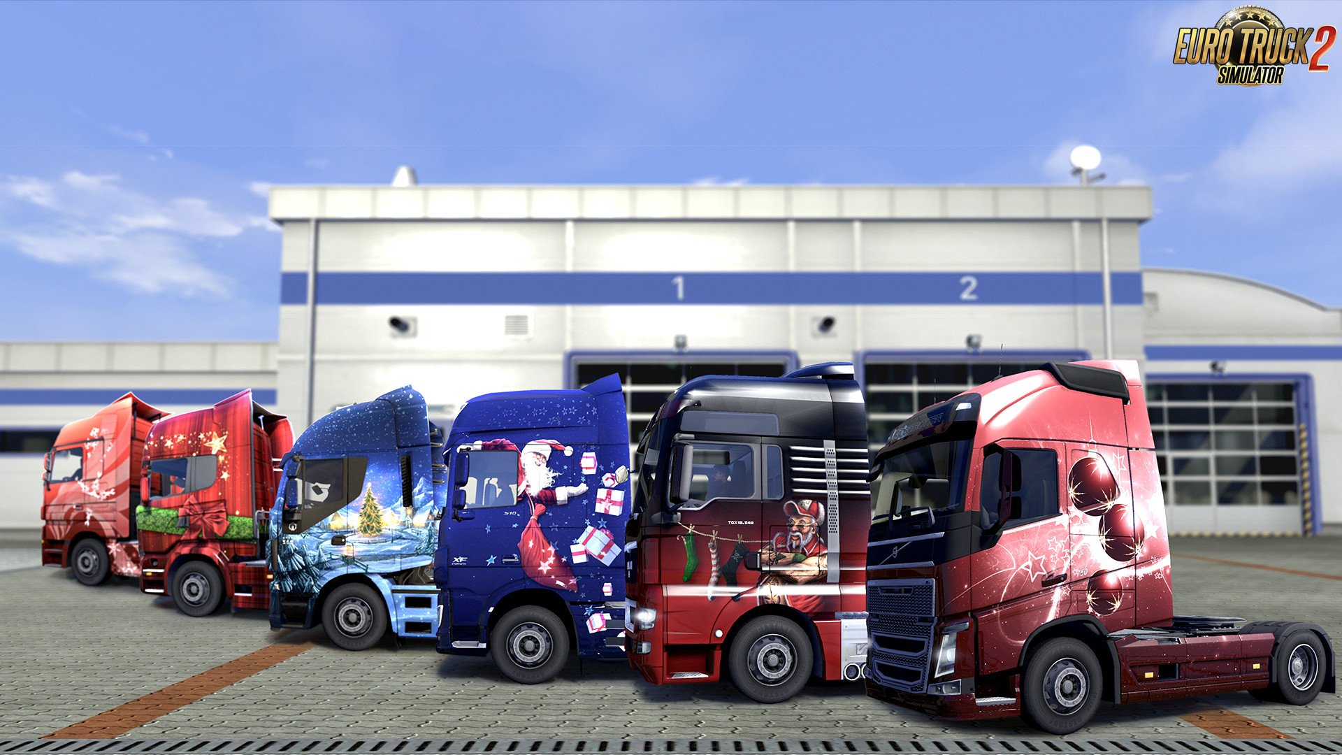 Christmas Paint Jobs Pack for Euro Truck Simulator 2
