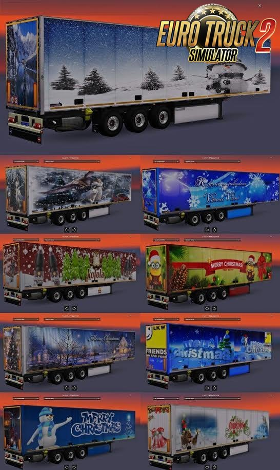 Christmas Trailers Pack for Ets2