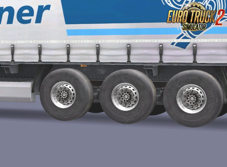 Trailer Wheels Replaces SCS Curtain Slider with Krone Logo for Ets2