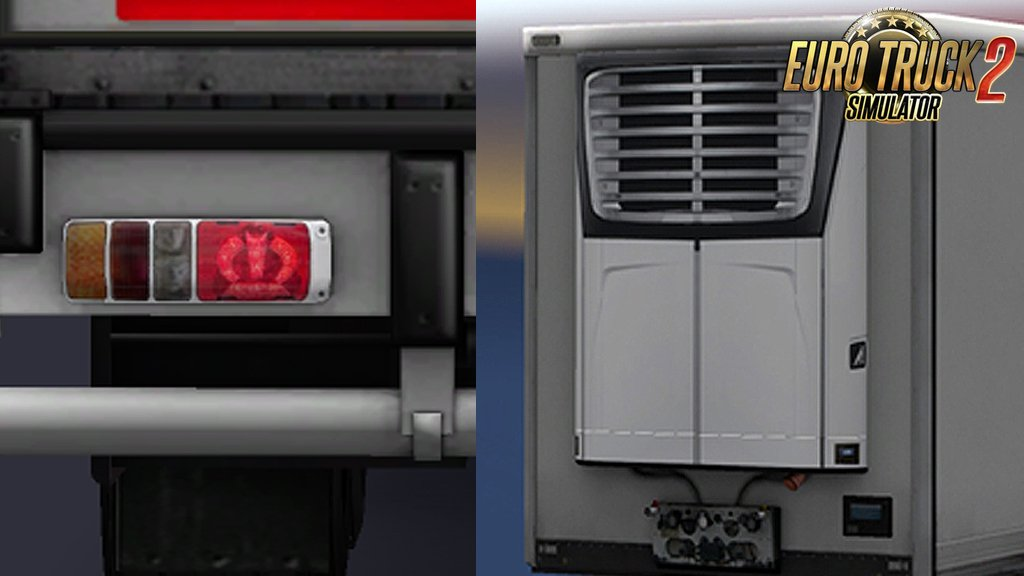 Replaces SCS Refrigerated Trailer with New Carrier Reefer, and Krone Tail Lights for Ets2