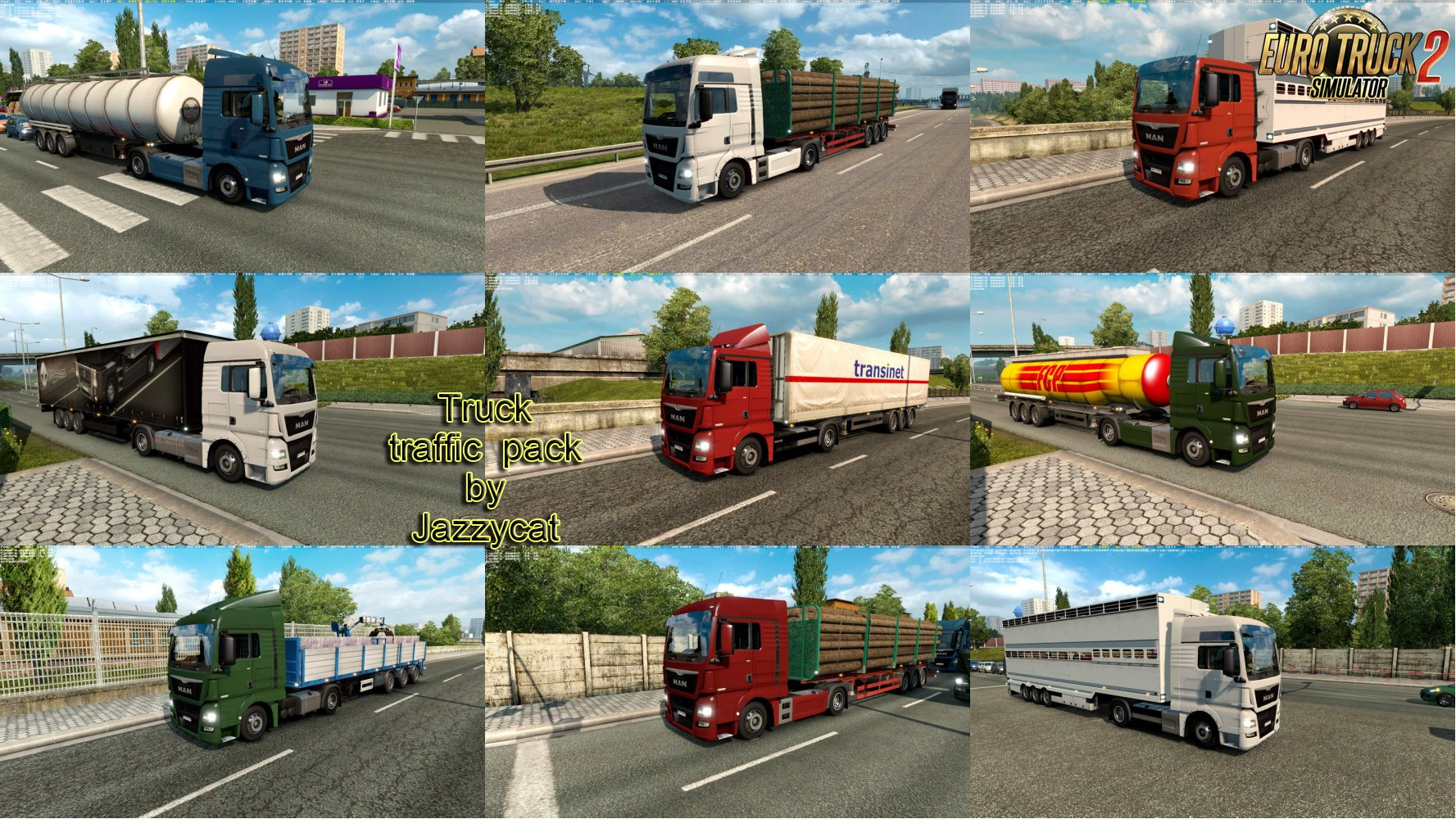 Truck Traffic Pack v2.4.1 by Jazzycat [1.27.x]