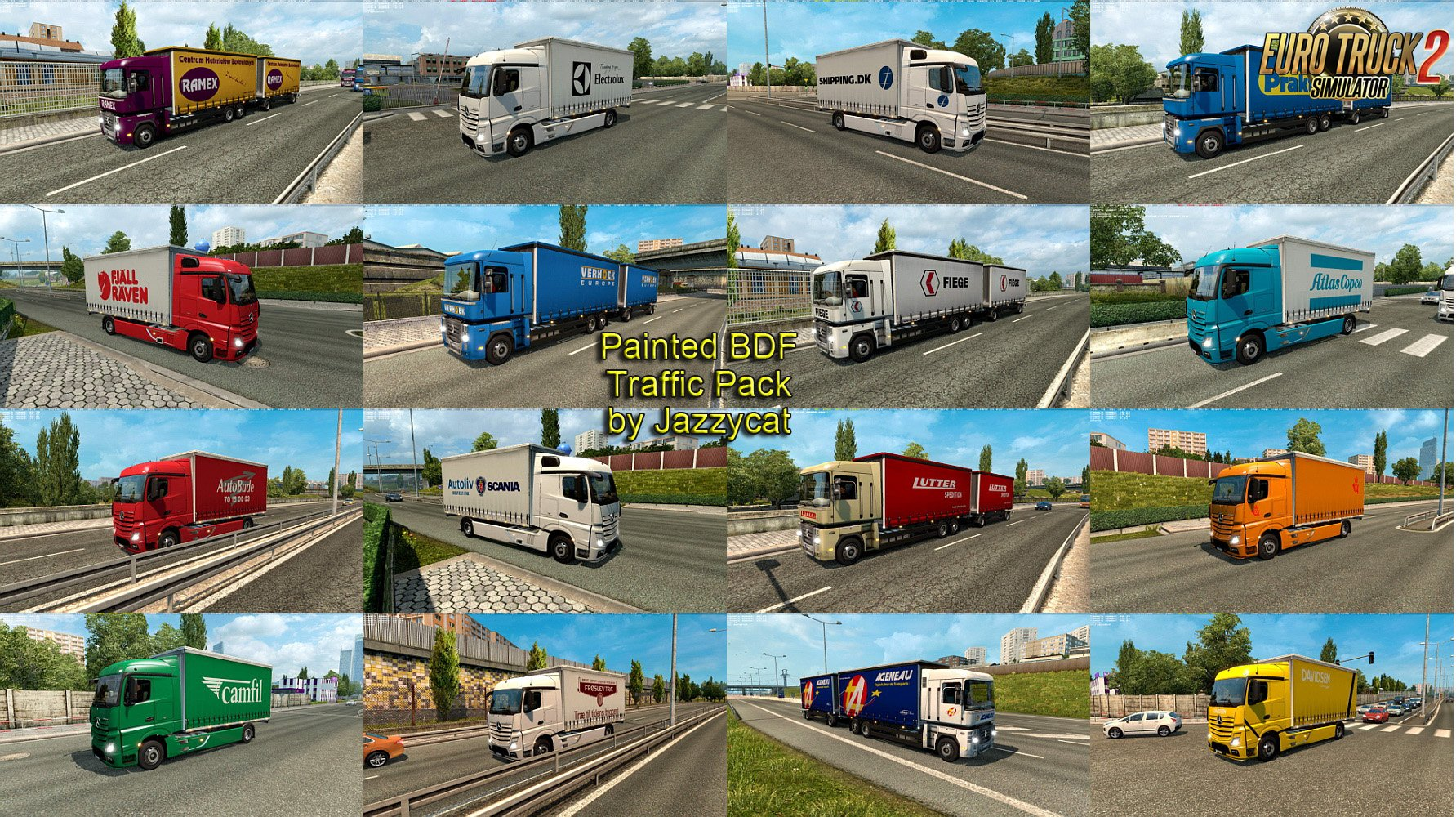 Painted BDF Traffic Pack v1.5 by Jazzycat [1.26.x]