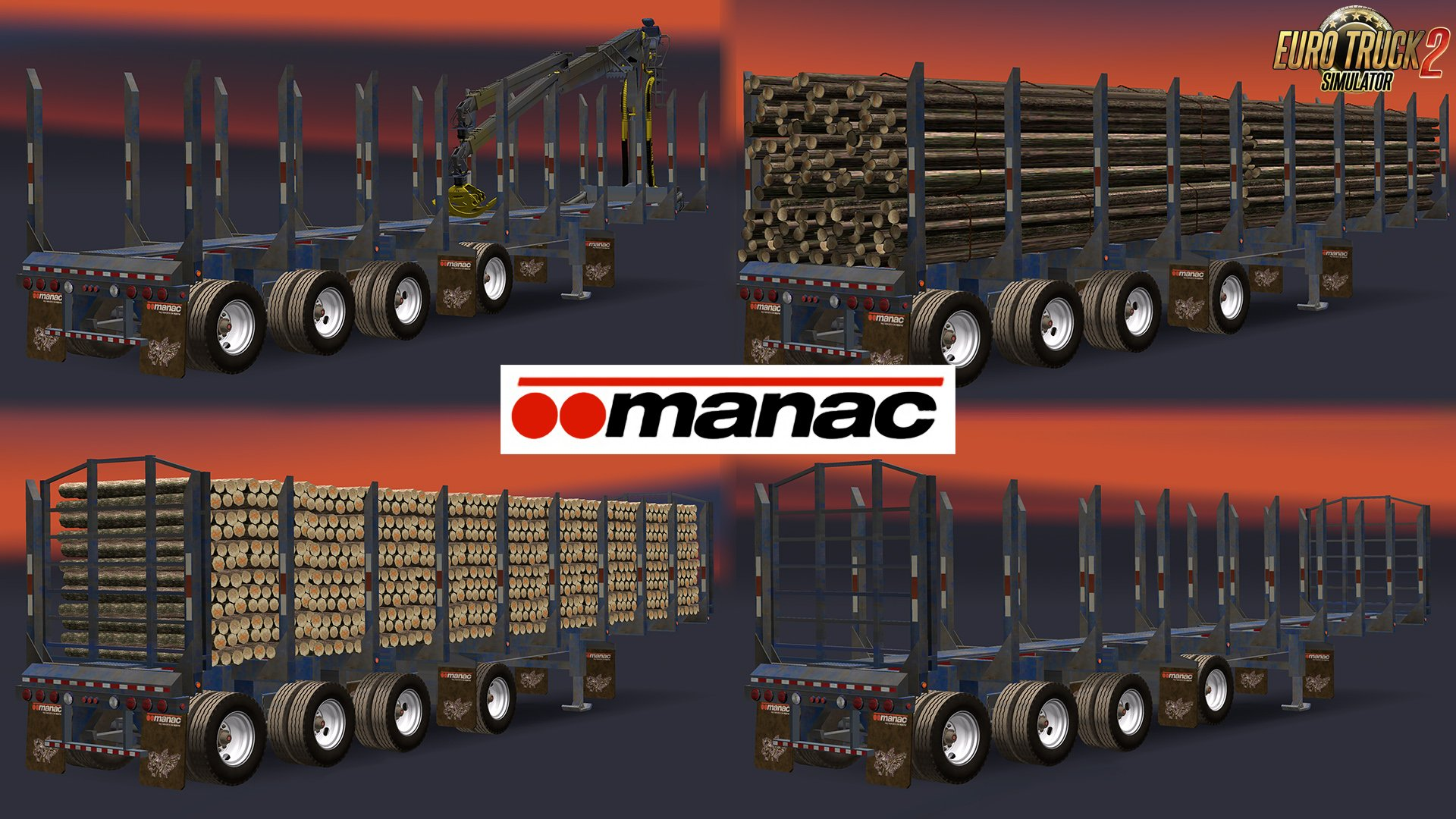 Manac 4 axis logs transporter trailer v1.0 (1.26.x)