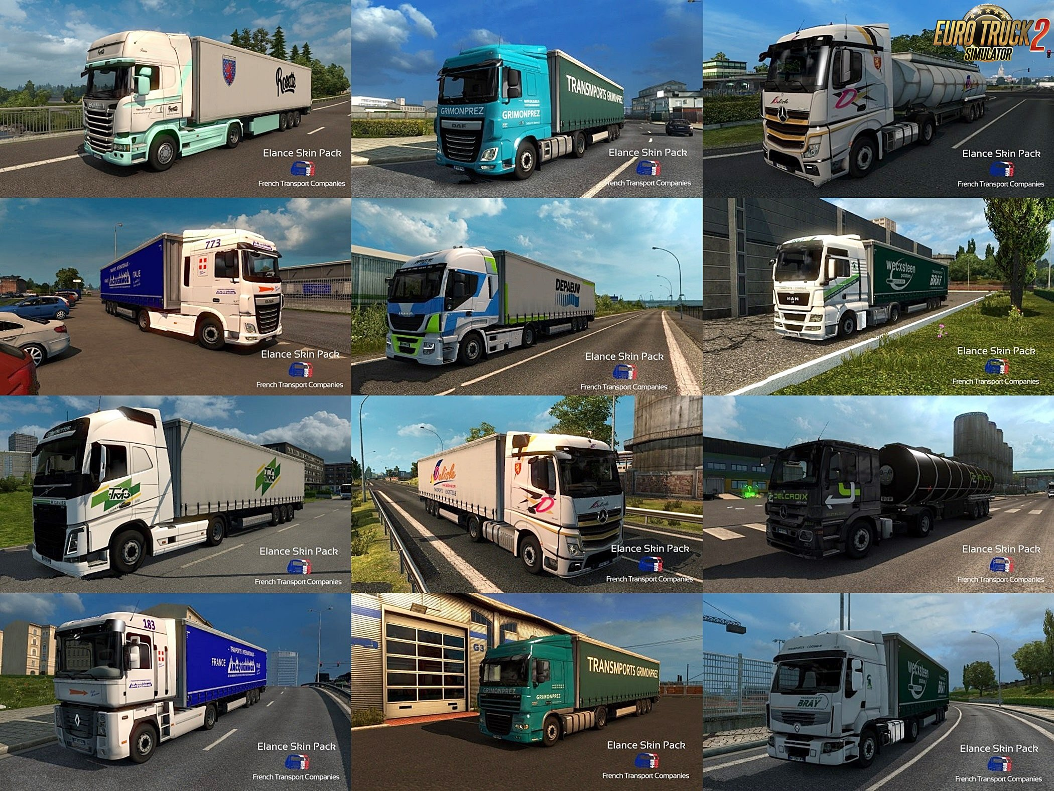 French Transport Companies SkinPack v1.0