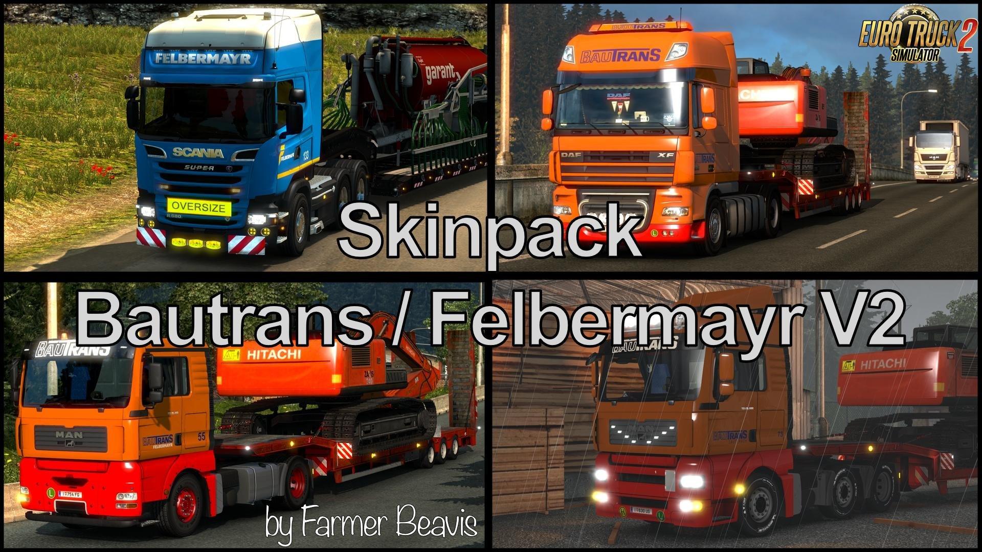 Skin Pack Bautrans Lauterach / Felbermayr v2.0 (1.26.x)