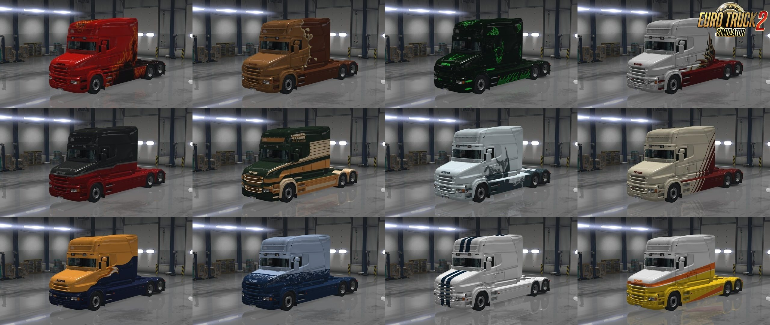 Default Paintjobs for Scania T
