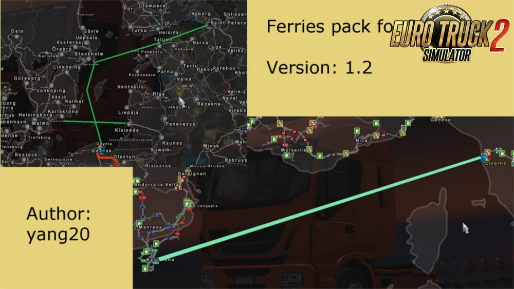Ferries pack for Promods v1.2 by yang20
