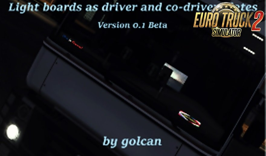 Light boards as driver/codriver plates by golcan