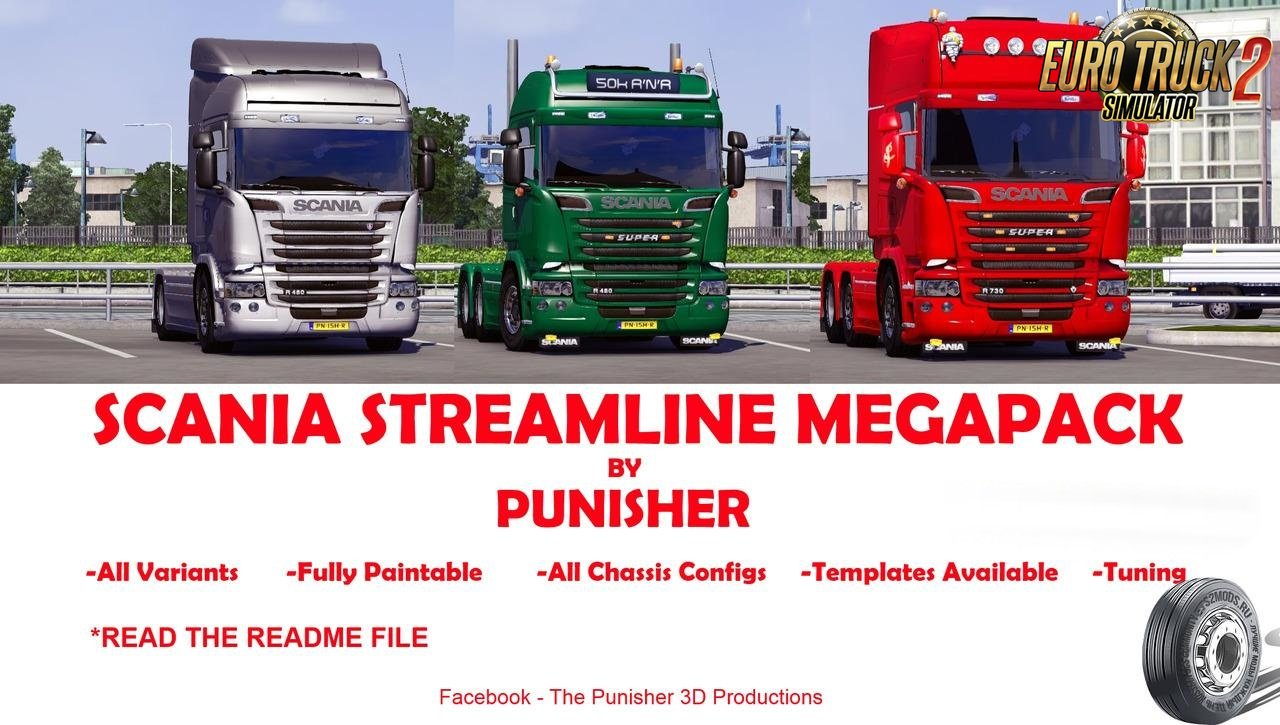 Scania Streamline MegaPack by Punisher v3 [1.26.x]