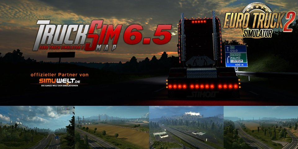 TruckSim Map 6.5 [1.26.x]