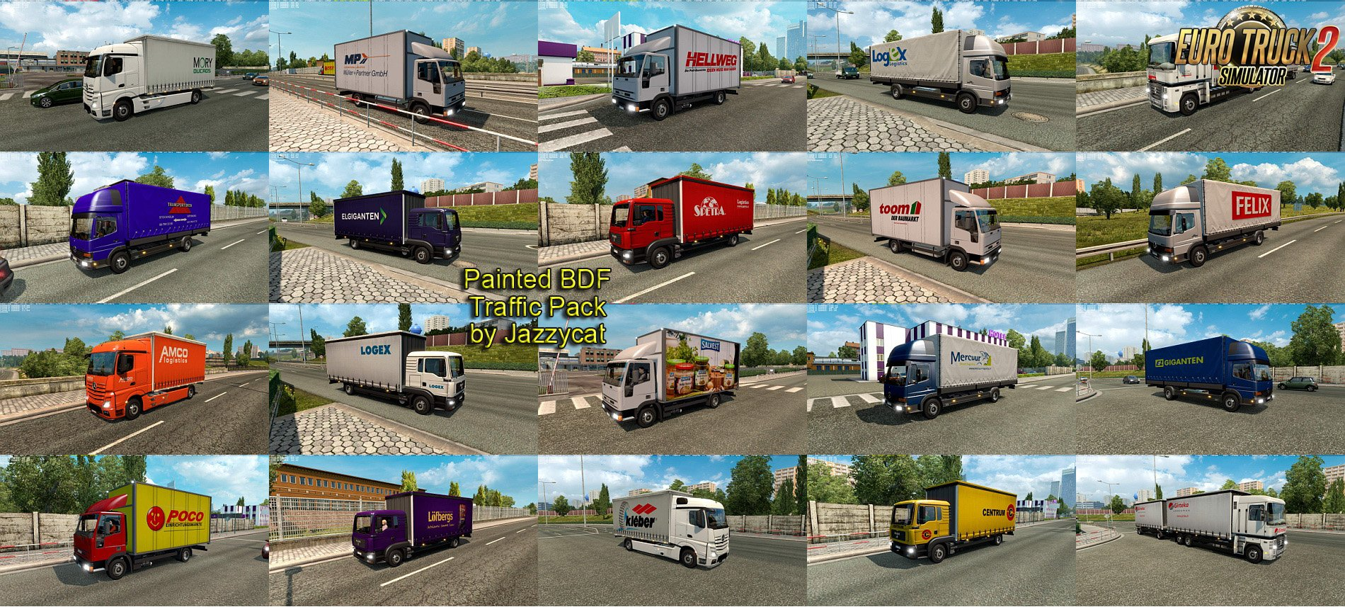 Painted BDF Traffic Pack v1.6.1 by Jazzycat [1.27.x]