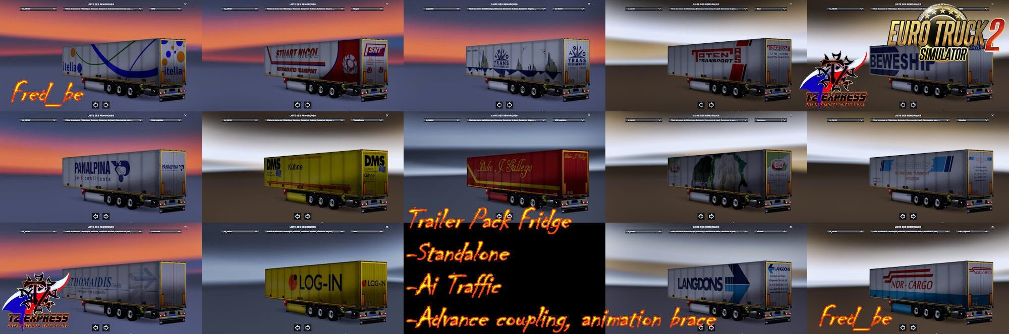 Trailer Pack Fridge v1.26 (39 skins) for Ets2