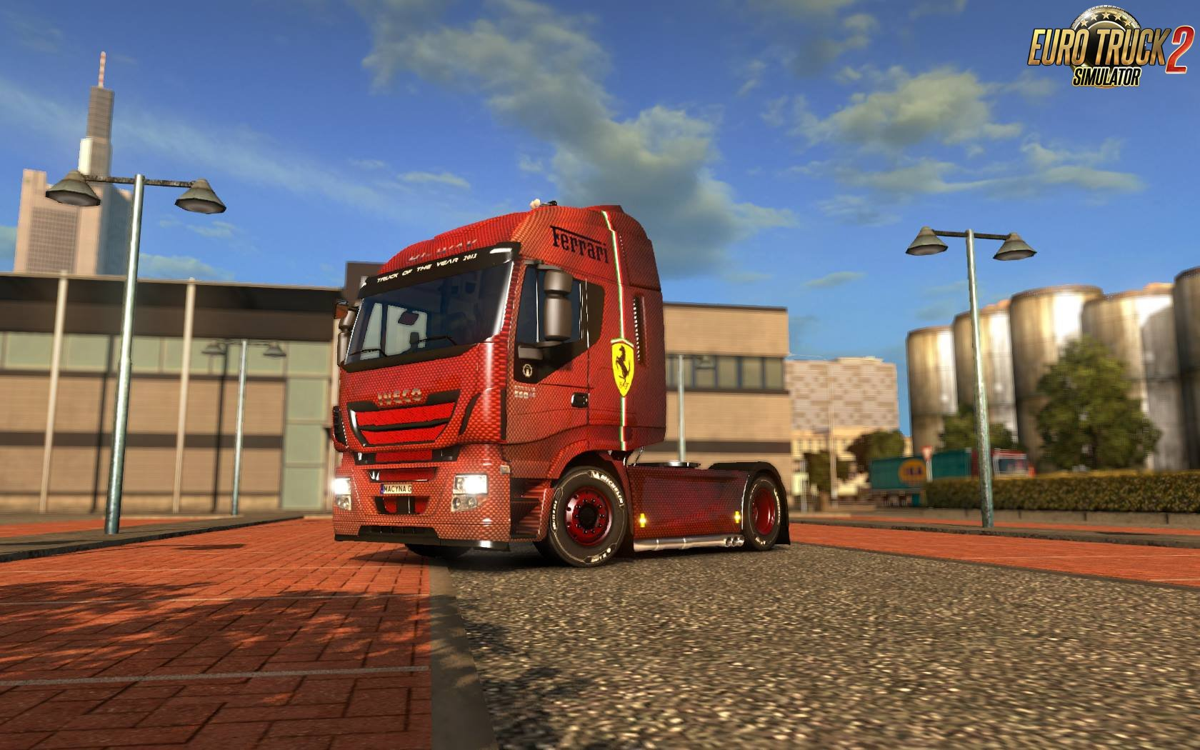 Iveco Hi-Way Ferrari Edition Skin v1.0 (1.26.x)