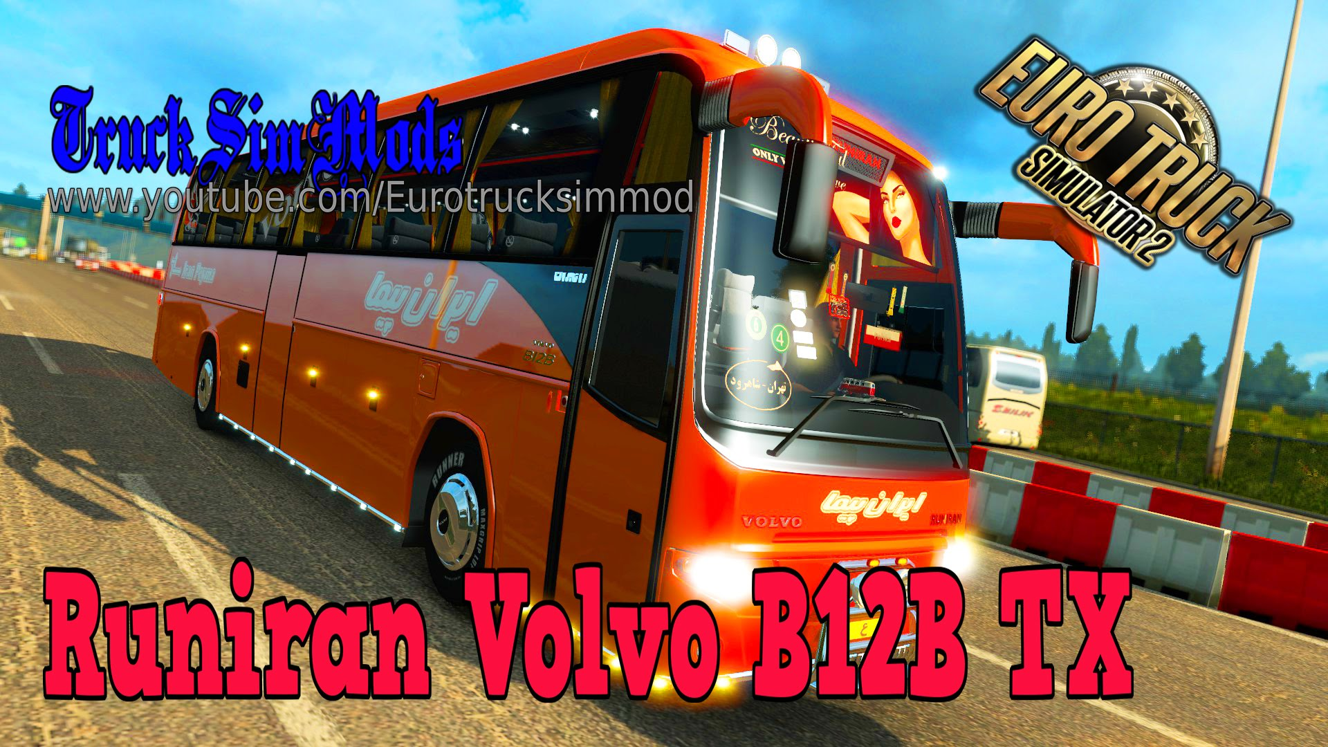 Bus Runiran Volvo B12B TX + Passengers Mod v1.0 (1.27.x) (Updated)