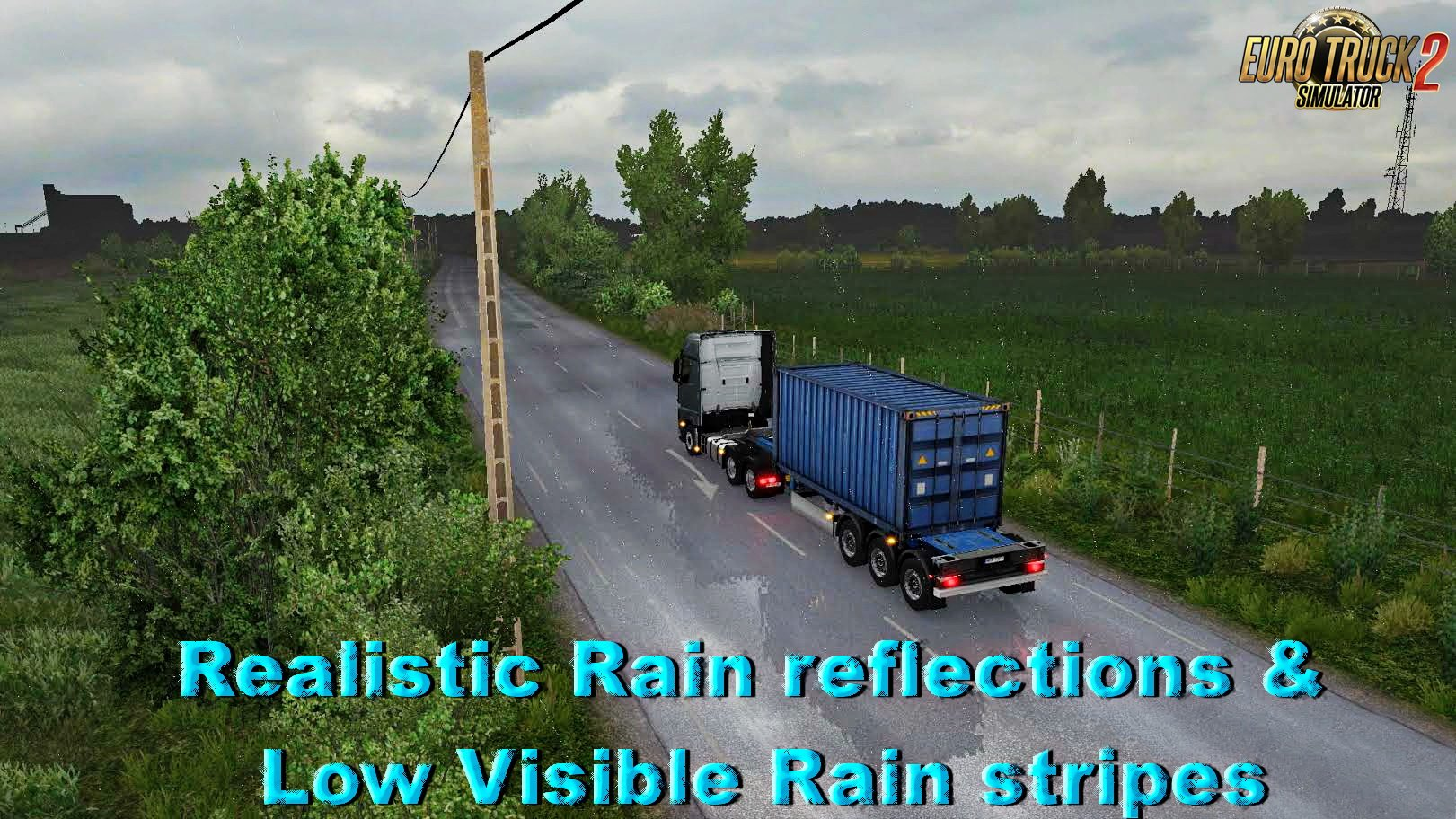 Realistic Rain reflections &  Low Visible Rain stripes v2.0 (1.26.x)
