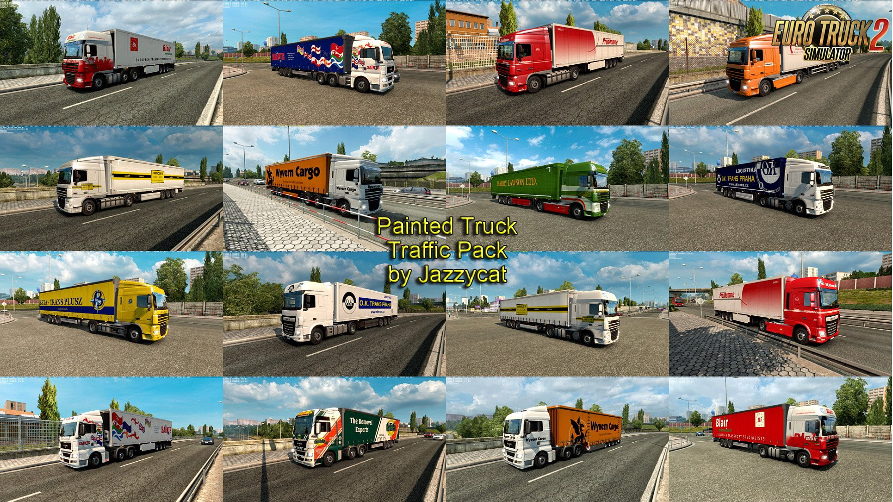 Painted Truck Traffic Pack v3.1 by Jazzycat