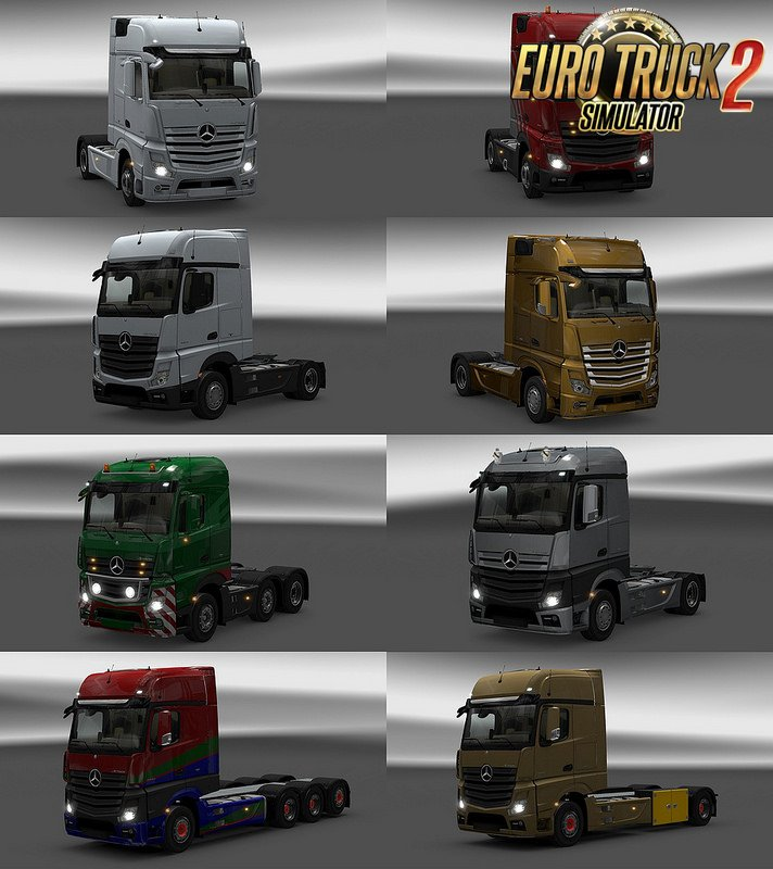 New Actros Plastic Parts and more v 3.12