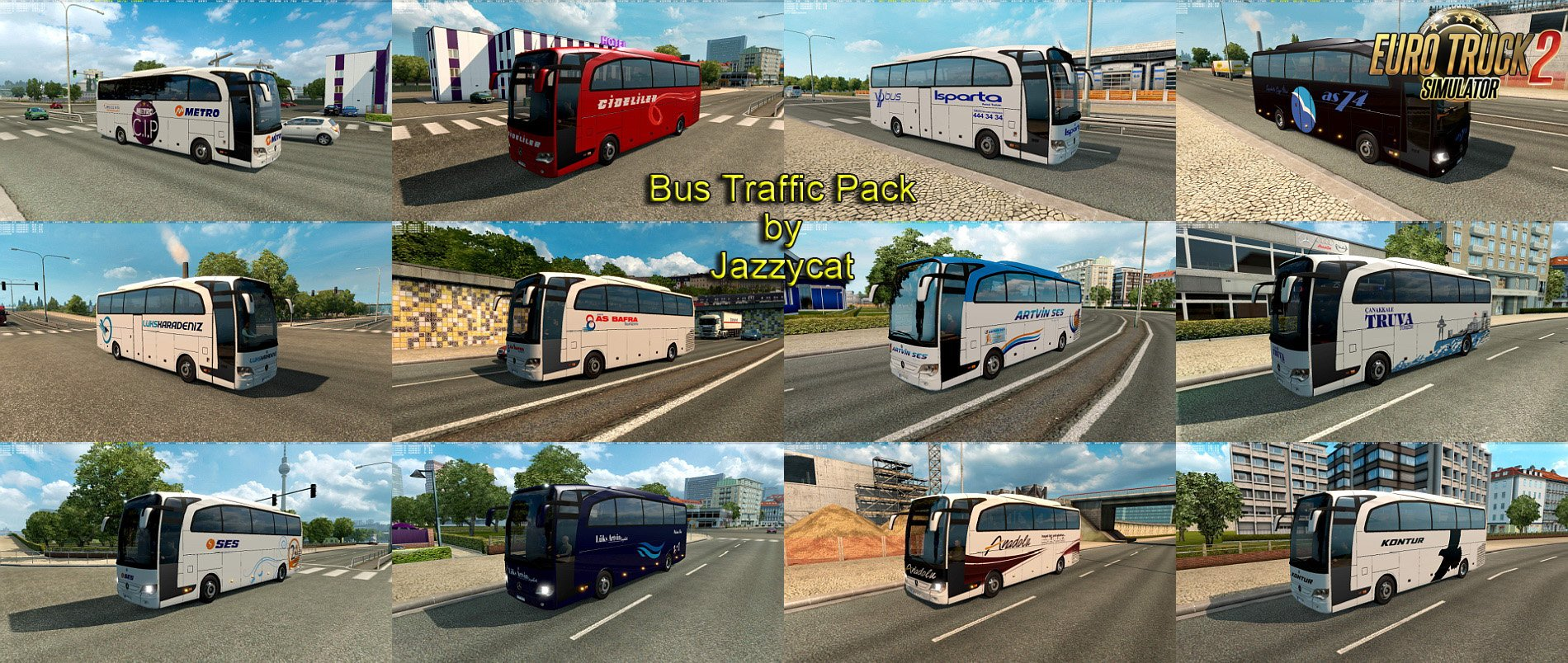 Bus Traffic Pack v1.8.2 by Jazzycat [1.27.x]