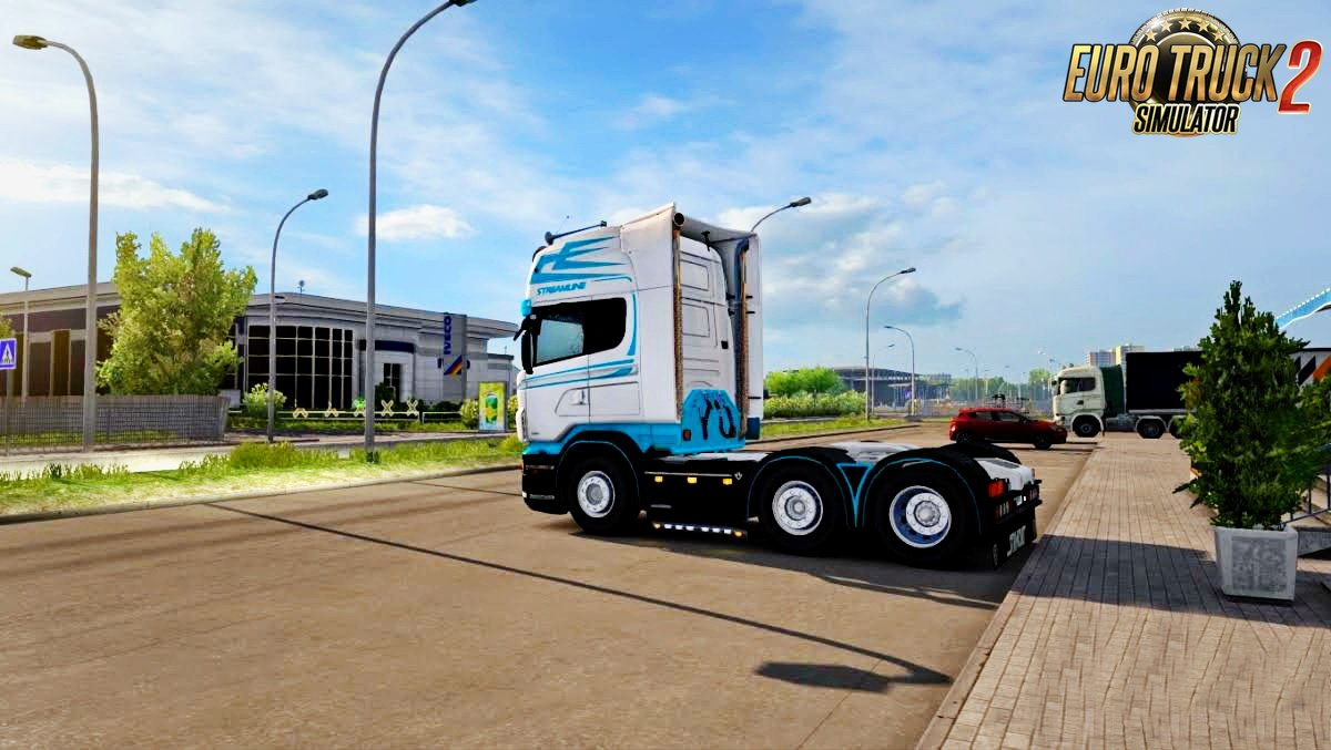 Blue Winter Skin v1.0 for Scania RJL (1.26.x)