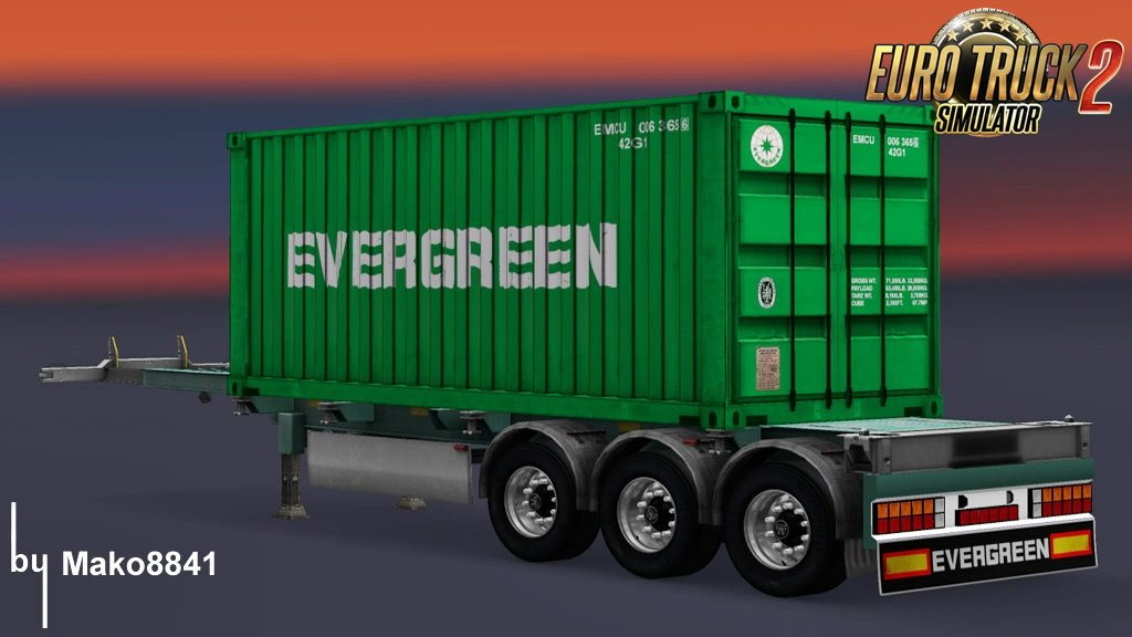 Trailer Container Evergreen by mako8841