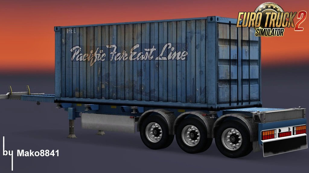 Trailer Container Pacific Far East Line by mako8841