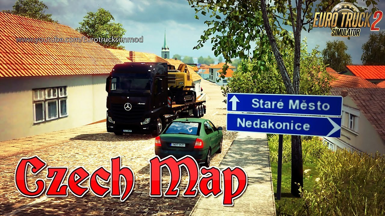Czech Map v1.2 - Euro Truck Simulator 2