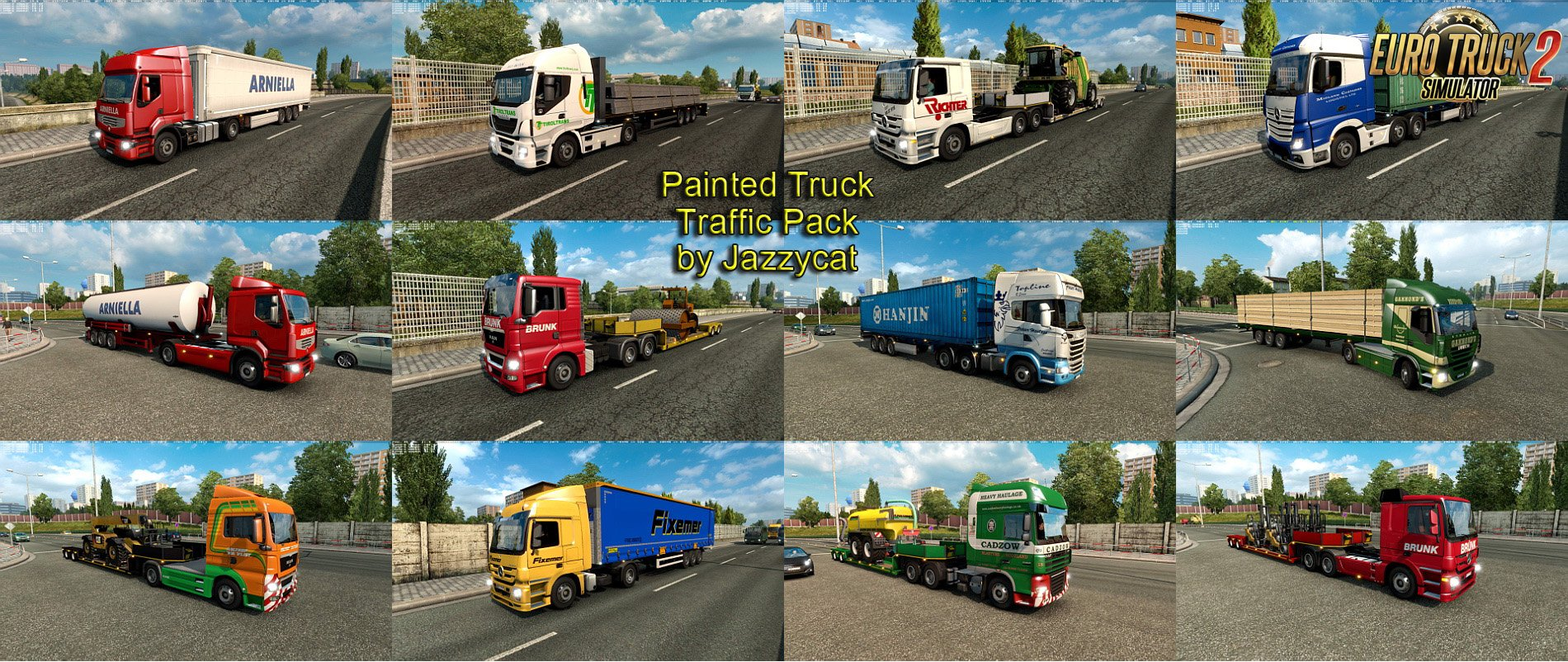 Painted Truck Traffic Pack v3.2.1 by Jazzycat [1.27.x]