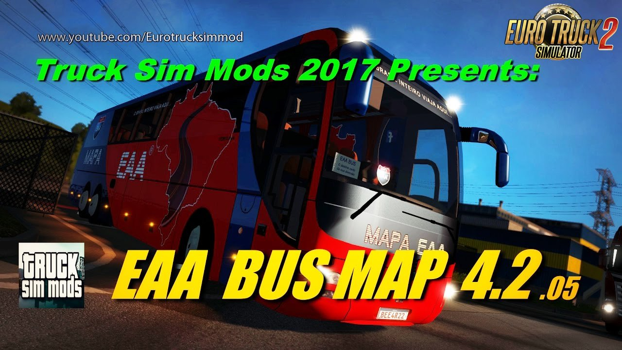 EAA Bus Map 4.2 - Euro Truck Simulator 2