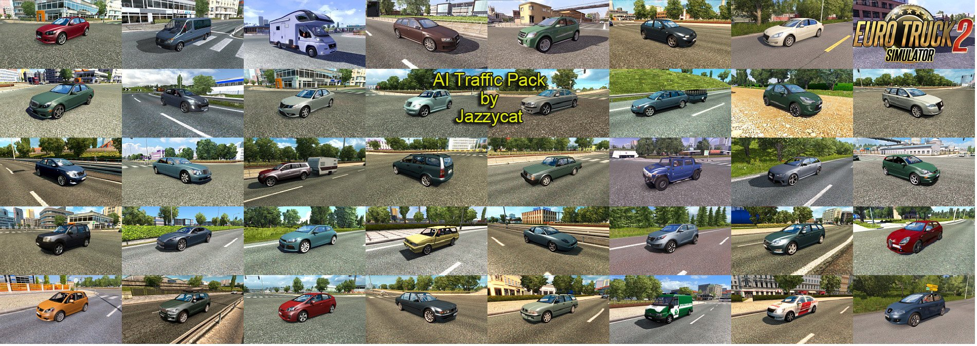 AI Traffic Pack v4.6.1 by Jazzycat [1.27.x]