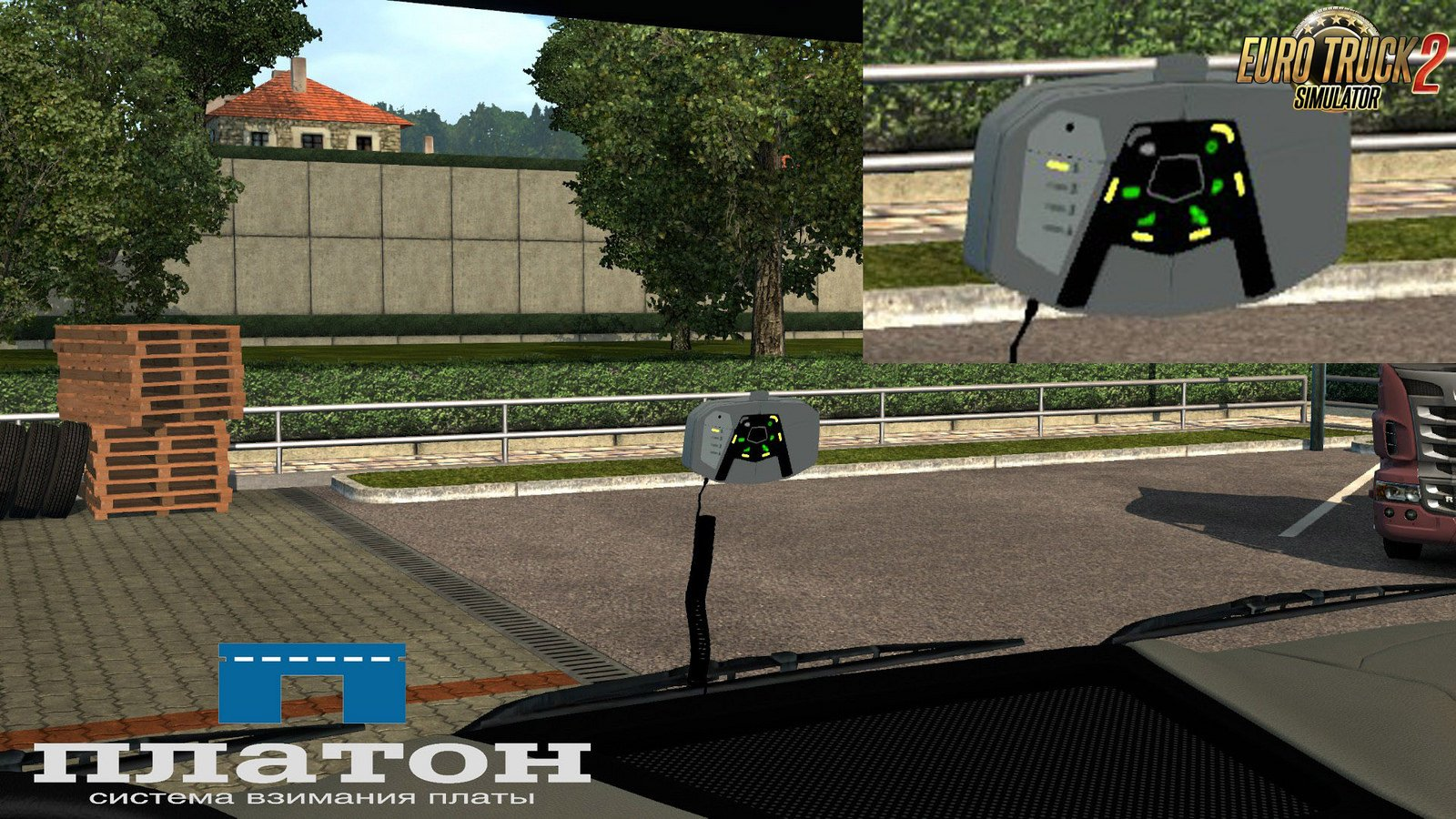Platon onboard pay device v.1.2 for Ets2